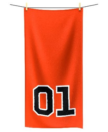 Dukes of Hazzard General Lee 01 bath towel