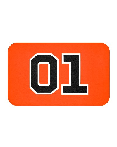 Dukes of Hazzard General Lee 01 bath mat