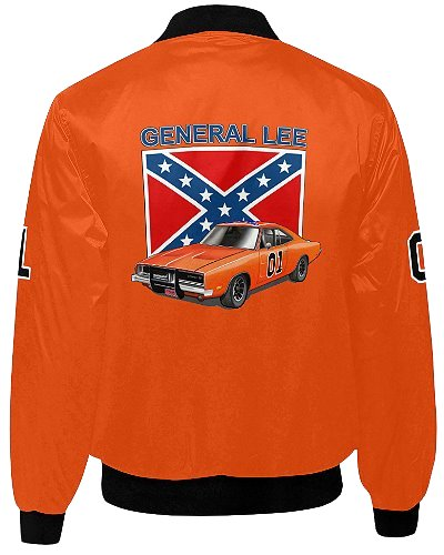 Dukes of Hazzard General Lee 01 quilted bomber jacket