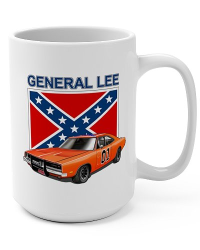 Dukes of Hazzard General Lee coffee mug
