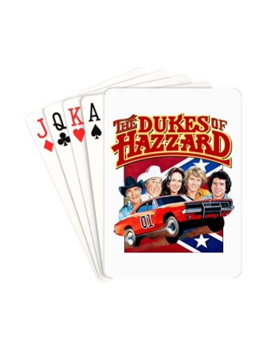 Dukes of Hazzard cast playing cards
