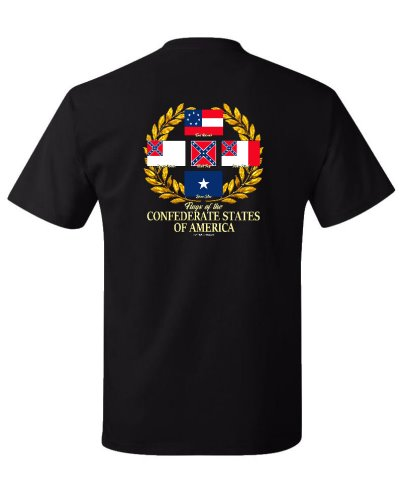 Flags of the Confederate States of America t-shirt