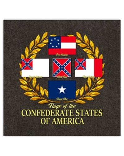 Flags of the Confederate States postcard magnet