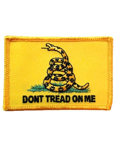Gadsden Dont Tread On Me iron-on embroidered patch