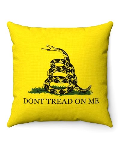 Gadsden Dont Tread On Me throw pillow