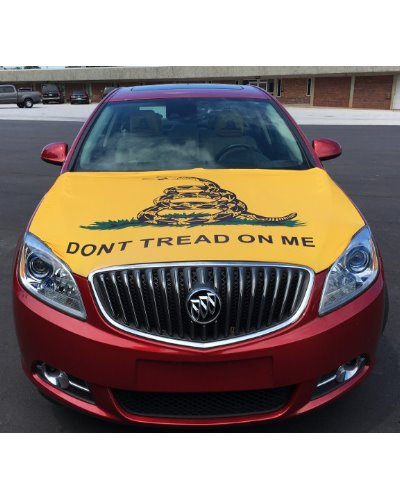 Gadsden Dont Tread on Me vehicle hood cover
