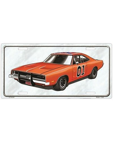General Lee (Dukes of Hazzard) white car tag