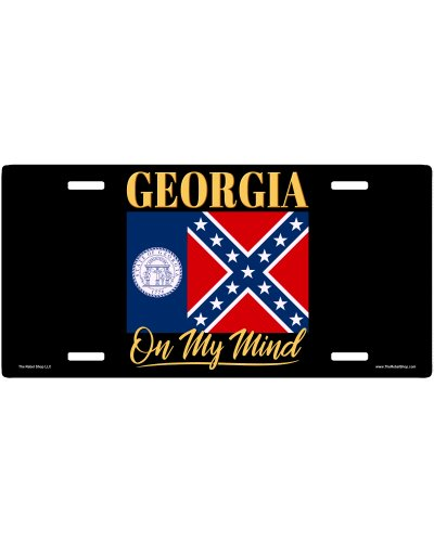 Georgia On My Mind no fade car tag
