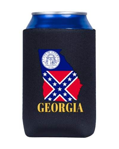 old Georgia State Flag shape can cooler