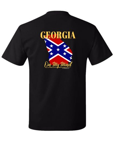 Georgia On My Mind Confederate State shape t-shirt