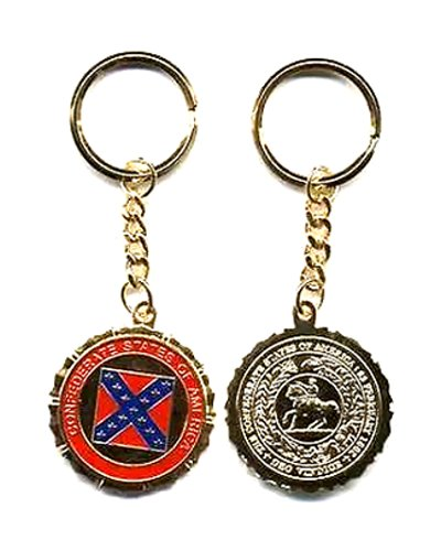 Great Seal of the Confederacy metal key ring