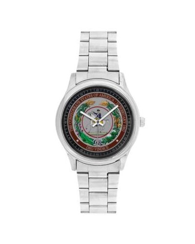 Great Seal of the Confederacy stainless steel wrist watch