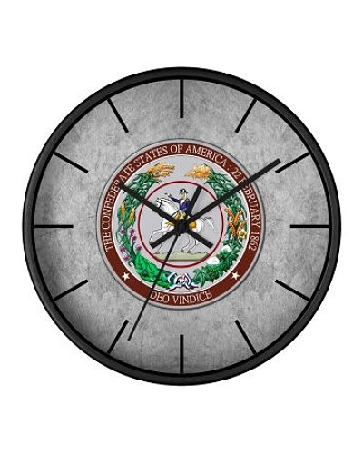 Great Seal of the Confederacy wall clock