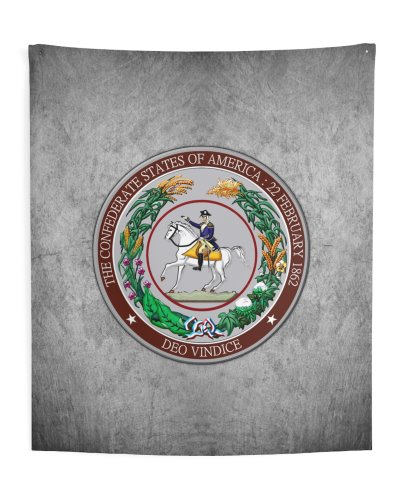 Great Seal of the Confederacy polyester wall tapestry