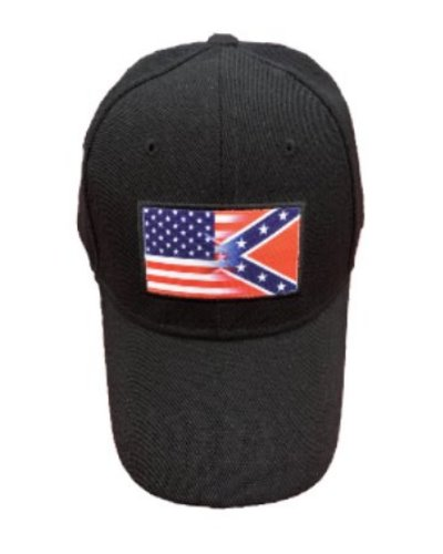 Half 'n' Half US/CS flags cap