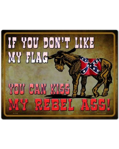 If You Don't Like My Flag no fade metal parking sign