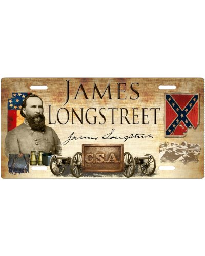 James Longstreet car tag