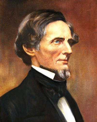 Jefferson Davis portrait poster
