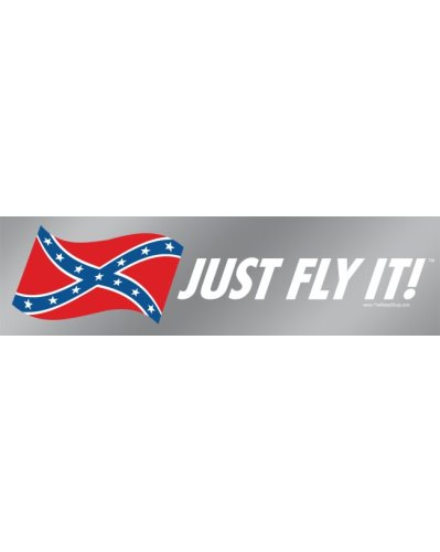 Just Fly It! removable bumper decal