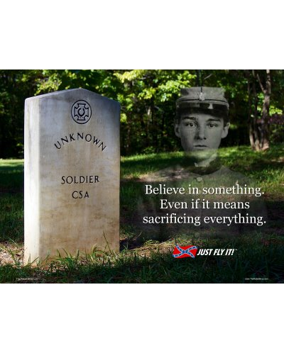 Believe in Something (Unknown Soldier) postcard magnet