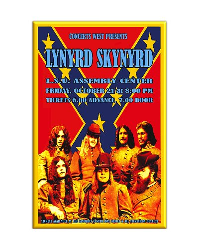 "Lynyrd Skynyrd ""The Show That Never Was"" refrigerator magnet"