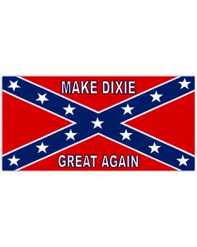 Make Dixie Great Again vinyl bumper sticker