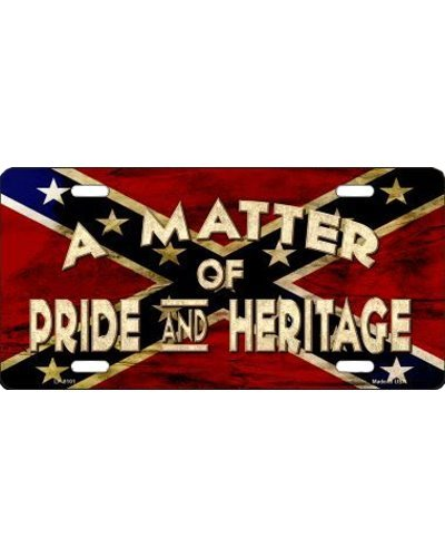 A Matter of Pride and Heritage car tag