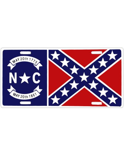 North Carolina Confederate Battle Flag car tag