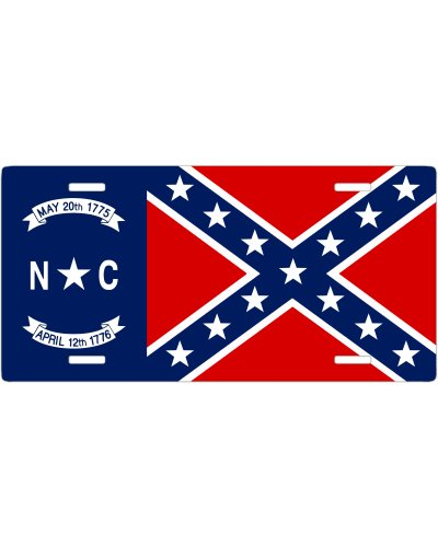 North Carolina Confederate no fade car tag
