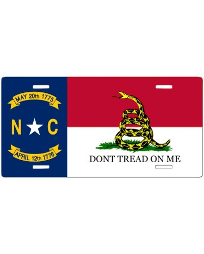 North Carolina Dont Tread On Me no fade car tag