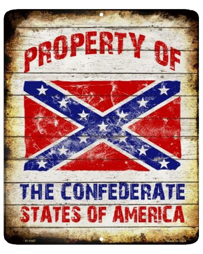 Property of the Confederate States of America metal sign
