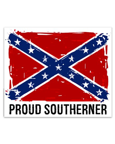 Proud Southerner bumper sticker
