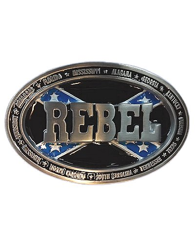 Rebel (Southern States) belt buckle