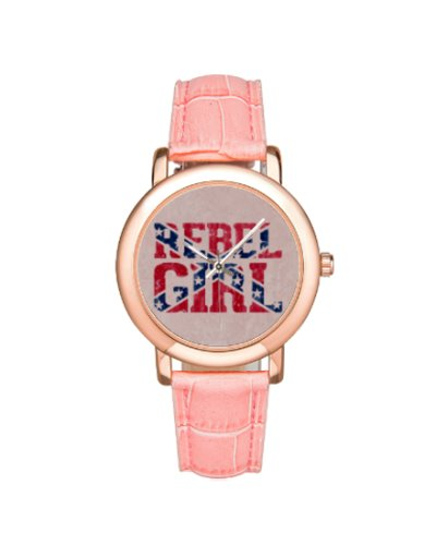 Rebel Girl ladies leather band wrist watch