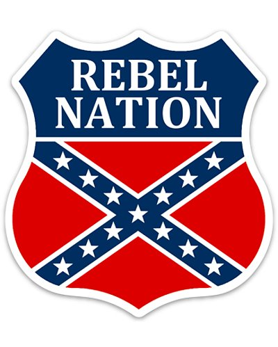 Rebel Nation die cut sticker