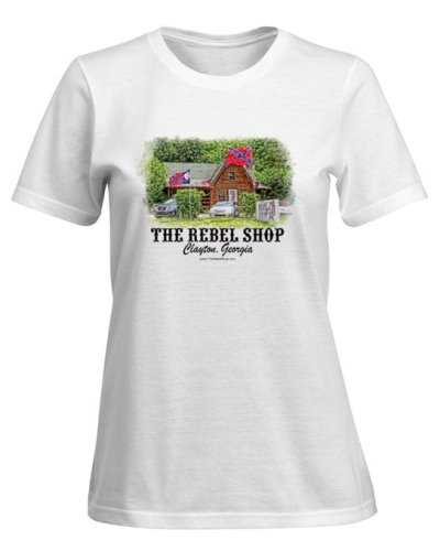 The Rebel Shop promotional lady's tshirt FREE With $100 Purchase
