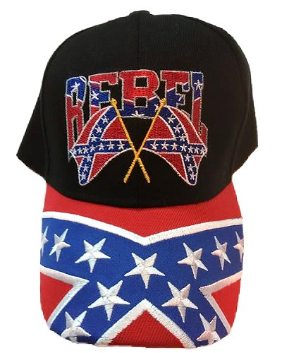 Rebel crossed flags embroidered cap