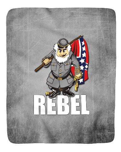Rebel cartoon character sherpa fleece blanket