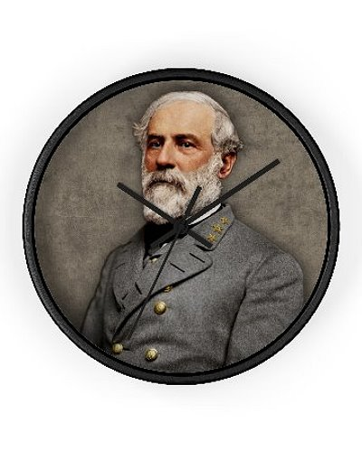 Robert E. Lee colorized portrait wall clock