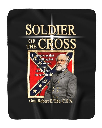 Soldier of the Cross Robert E. Lee fleece blanket