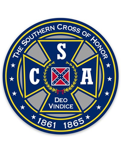 Southern Cross of Honor premium die cut sticker