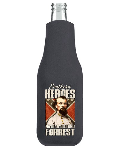 Southern Heroes Nathan Bedford Forrest zippered bottle cooler