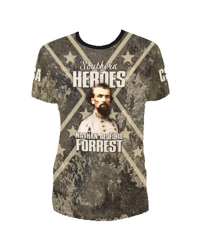 Southern Heroes Nathan Forrest concrete camo all over t-shirt