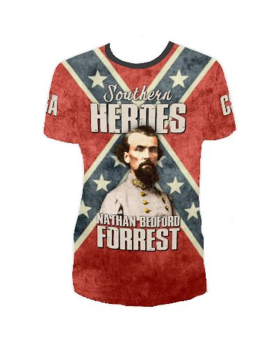 Southern Heroes Nathan Bedford Forrest all over t-shirt