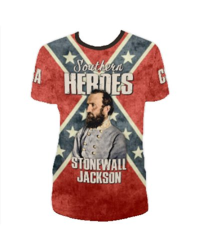 Southern Heroes Stonewall Jackson all over t-shirt