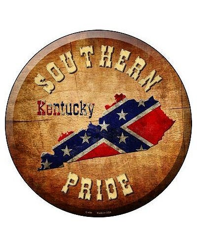 Southern Pride Kentucky circular metal sign