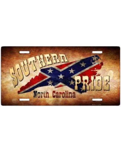 Southern Pride North Carolina car tag