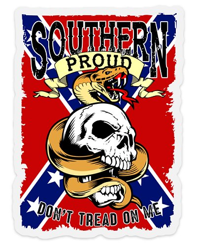 Southern Proud Don't Tread On Me clear sticker