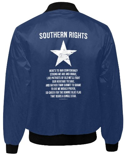Southern Rights (Bonnie Blue flag) quilted bomber jacket