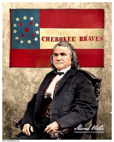 Stand Watie Cherokee Braves colorized photo print